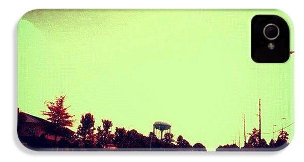 #cary #driving #sky #red #watertower IPhone 4s Case