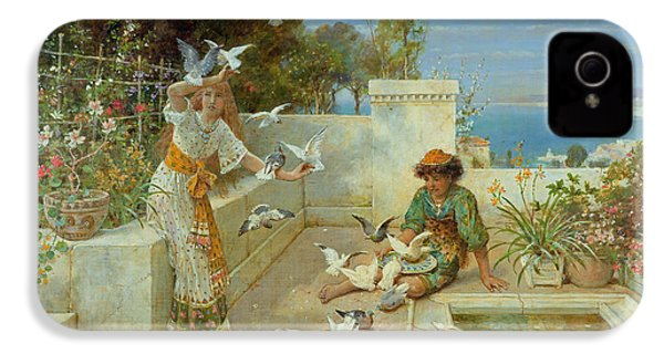 Children By The Mediterranean  IPhone 4s Case by William Stephen Coleman