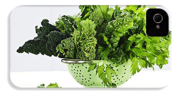 Dark Green Leafy Vegetables In Colander IPhone 4s Case by Elena Elisseeva