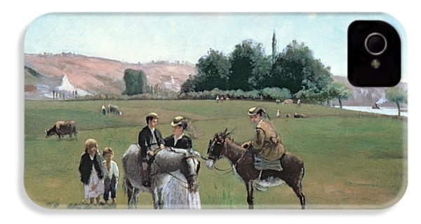 Donkey Ride IPhone 4s Case by Camille Pissarro