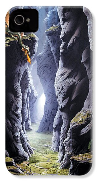 Dragons Pass IPhone 4s Case by The Dragon Chronicles - Steve Re