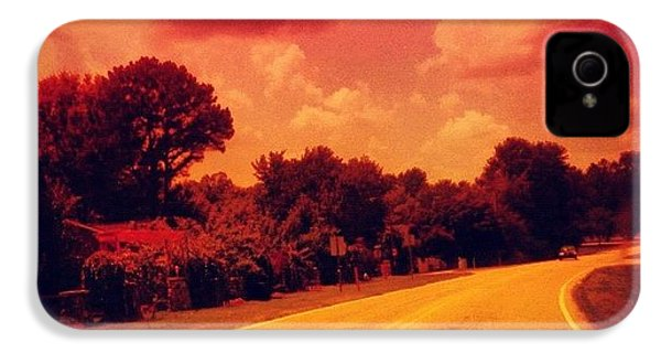 #driving #sky #clouds #road #summer IPhone 4s Case