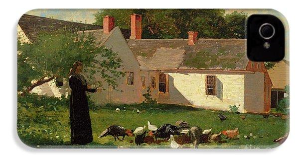 Farmyard Scene IPhone 4s Case by Winslow Homer