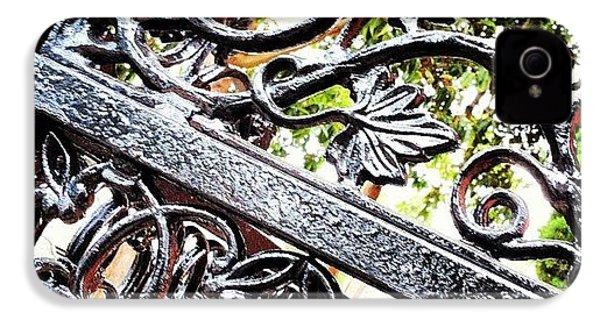 #fence #gate #decorative #ornamental IPhone 4s Case by Daniel Corson