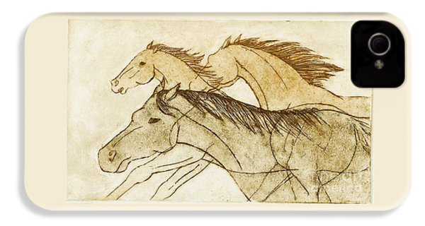 Horse Sketch IPhone 4s Case by Nareeta Martin