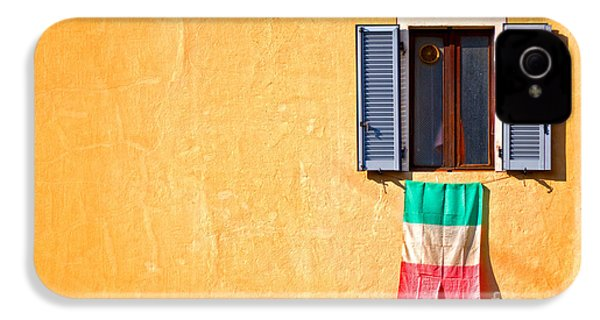 Italian Flag Window And Yellow Wall IPhone 4s Case
