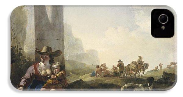 Italian Peasants Among Ruins IPhone 4s Case by Jan Weenix