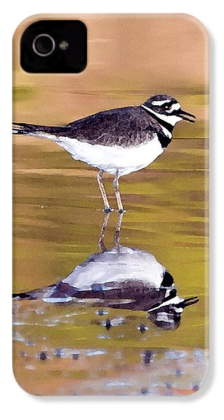 Killdeer Reflection IPhone 4s Case by Betty LaRue