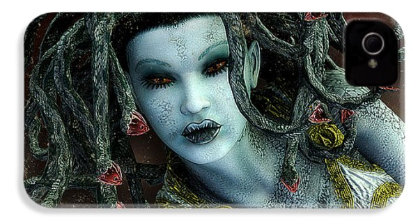 Medusa IPhone 4s Case by Jutta Maria Pusl
