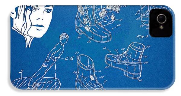Michael Jackson Anti-gravity Shoe Patent Artwork IPhone 4s Case by Nikki Marie Smith