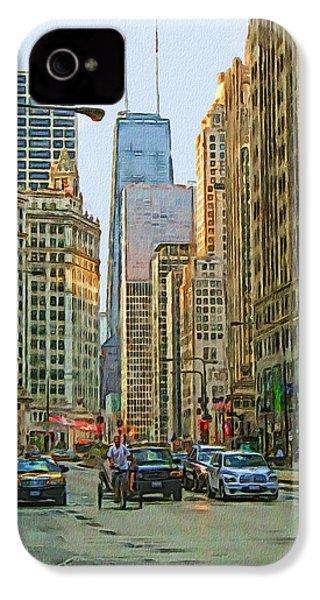 Michigan Avenue IPhone 4s Case by Vladimir Rayzman