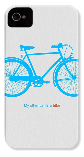 My Other Car Is A Bike  IPhone 4s Case by Naxart Studio