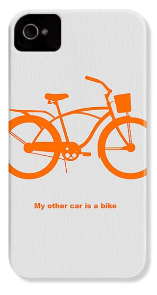 My Other Car Is Bike IPhone 4s Case by Naxart Studio