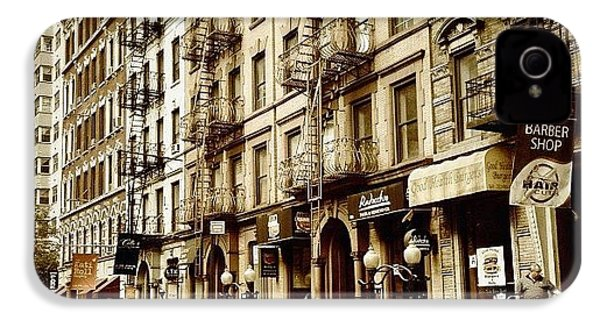 New York City - Back In Time IPhone 4s Case by Vivienne Gucwa