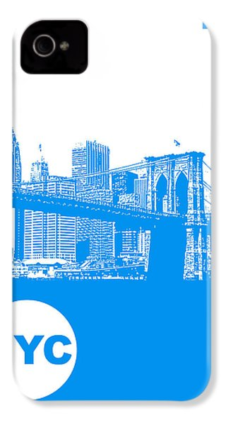 New York Poster IPhone 4s Case by Naxart Studio