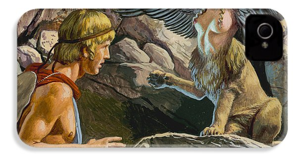 Oedipus Encountering The Sphinx IPhone 4s Case by Roger Payne