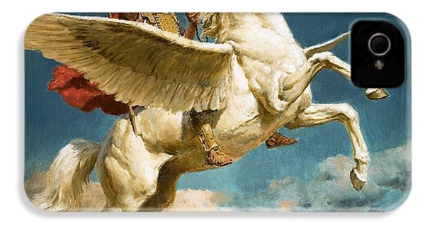 Pegasus The Winged Horse IPhone 4s Case by Fortunino Matania