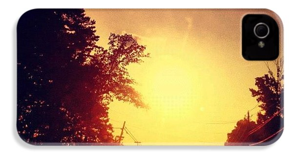 Picking Up Dinner #driving #sunset #sun IPhone 4s Case