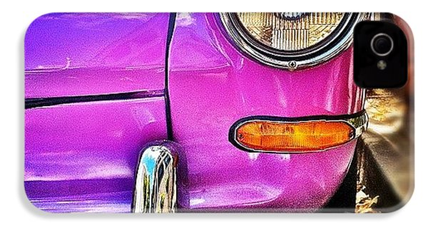 Purple Vw Bug IPhone 4s Case by Julie Gebhardt