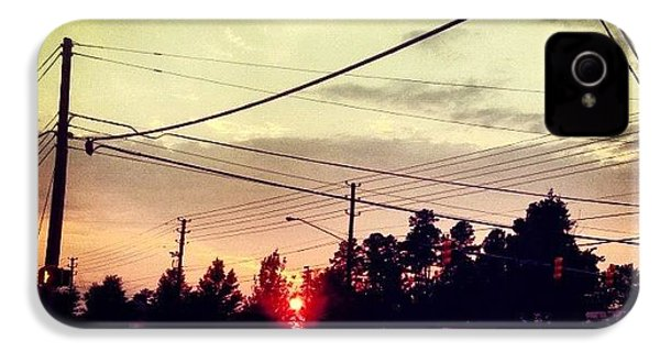 #red #sun IPhone 4s Case