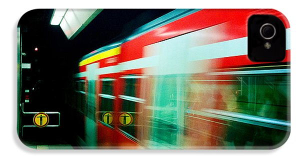 Red Train Blurred IPhone 4s Case by Matthias Hauser