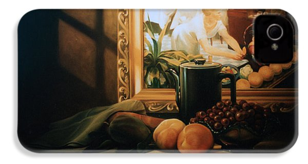Still Life With Hopper IPhone 4s Case by Patrick Anthony Pierson