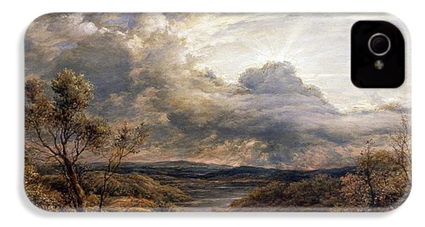 Sun Behind Clouds IPhone 4s Case by John Linnell