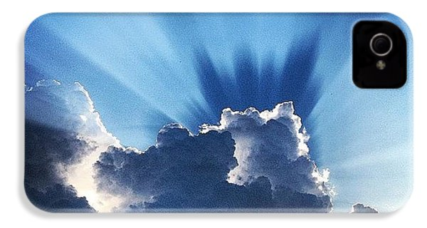#sunset #clouds #weather #rays #light IPhone 4s Case