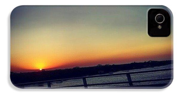 #sunset #rainbow #cool #bridge #driving IPhone 4s Case by Mandy Shupp