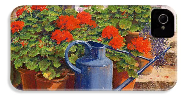 The Blue Watering Can IPhone 4s Case by Anthony Rule