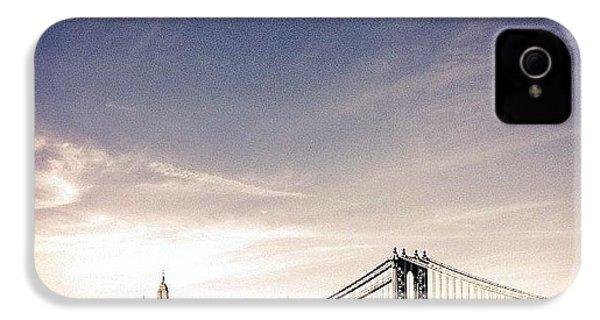 The Manhattan Bridge And New York City Skyline IPhone 4s Case
