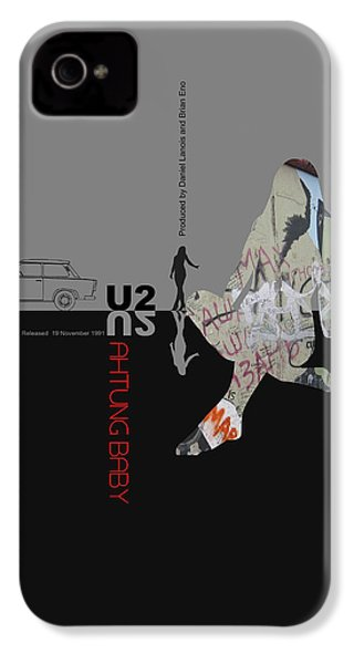 U2 Poster IPhone 4s Case by Naxart Studio