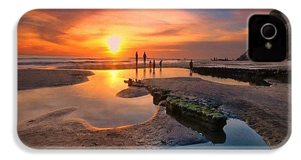 Ultra Low Tide Sunset At A North San IPhone 4s Case by Larry Marshall
