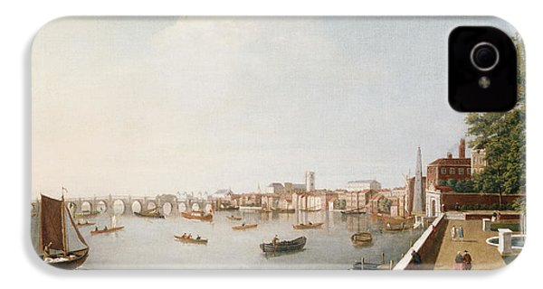 View Of The River Thames From The Adelphi Terrace  IPhone 4s Case by William James