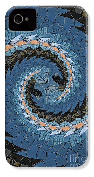 Wave Mosaic. IPhone 4s Case by Clare Bambers