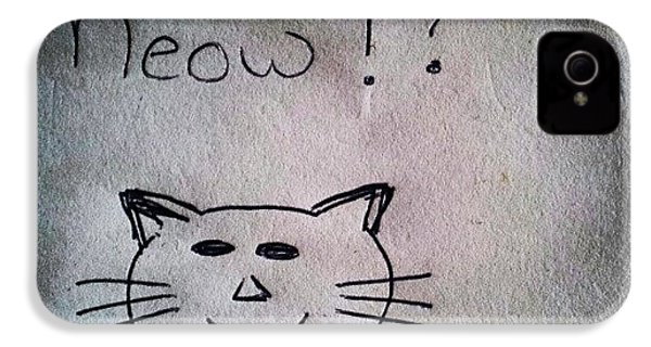 What My Room Mates Draw! #cat #drawing IPhone 4s Case