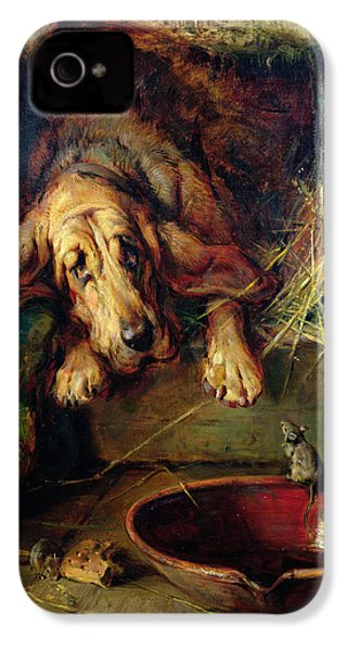 When The Cat's Away The Mice Will Play  IPhone 4s Case by Philip Eustace Stretton