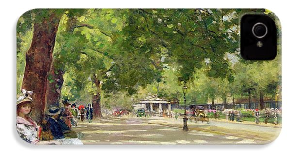 Hyde Park - London IPhone 4s Case by Count Girolamo Pieri Nerli