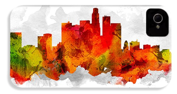Los Angeles California Cityscape 15 IPhone 4s Case by Aged Pixel