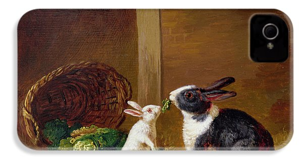 Two Rabbits IPhone 4s Case by H Baert