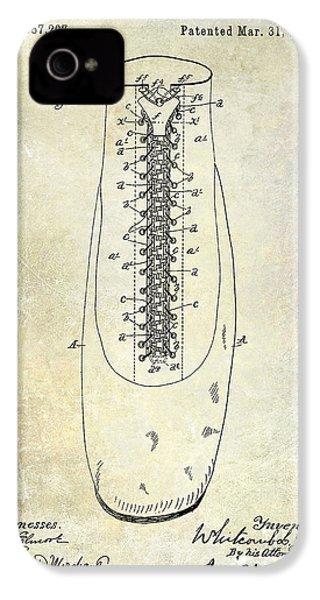 1896 Shoe Patent  IPhone 4s Case by Jon Neidert