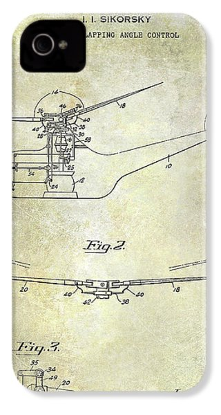 1947 Helicopter Patent IPhone 4s Case by Jon Neidert