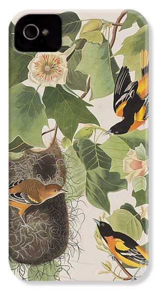Baltimore Oriole IPhone 4s Case by John James Audubon