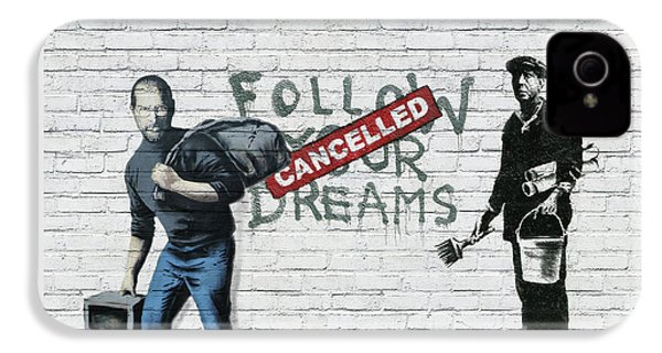 Banksy - The Tribute - Follow Your Dreams - Steve Jobs IPhone 4s Case