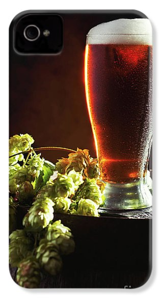 Beer And Hops On Barrel IPhone 4s Case by Amanda Elwell