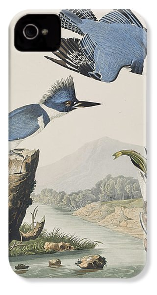 Belted Kingfisher IPhone 4s Case by John James Audubon