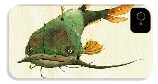 Channel Catfish Fish Animal Watercolor Painting IPhone 4s Case by Juan  Bosco