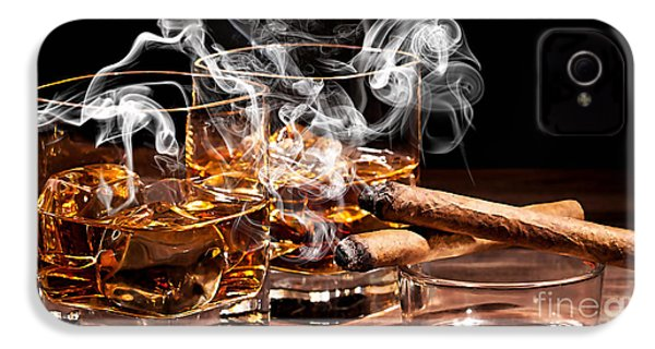 Cigar And Alcohol Collection IPhone 4s Case by Marvin Blaine