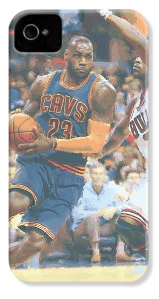 Cleveland Cavaliers Lebron James 2 IPhone 4s Case by Joe Hamilton