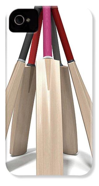 Cricket Bat Circle IPhone 4s Case by Allan Swart